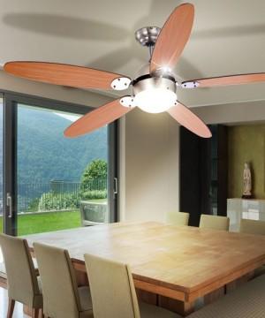 GLOBO Azura 0308 Ventilatore a Soffitto 5 Pale Faggio