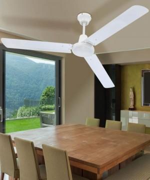 GLOBO Ferro 0310 Ventilatore a Soffitto senza Luce 3 Pale Bianco