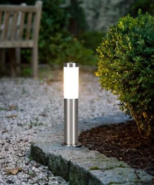GLOBO Boston 3158 Lampada da Terra per Esterno Lampioncino Inox H. 45cm