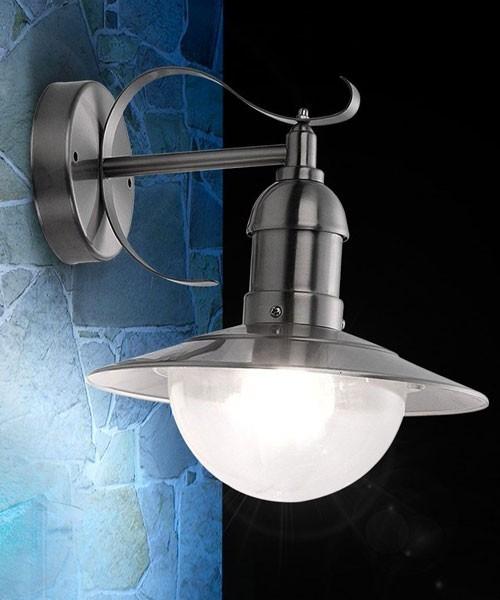 globo mixed 3270 lampada per esterno da parete acciaio
