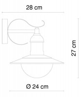 GLOBO Mixed 3270 Lampada per Esterno da Parete Acciaio Inox 1 Luce