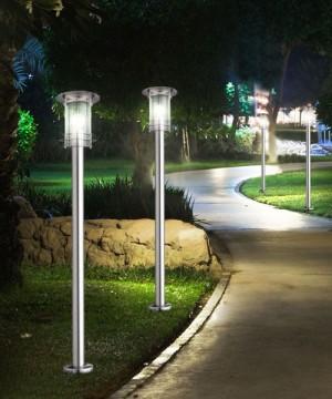 GLOBO Miami 3154 Lampada per Esterno da Terra Lampioncino Inox 110cm