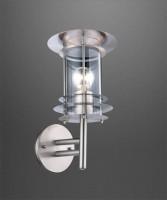 GLOBO Miami 3151 Lampada per Estero da Parete in Acciaio Inox 35cm