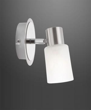 GLOBO Kati 54913-1 Lampada da Soffitto Faretto Orientabile in Vetro Ottico Alabastro