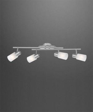 GLOBO Kati 54913-4 Lampada da Soffitto 4 Faretti Orientabili in Vetro Ottico Alabastro