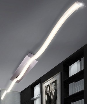 GLOBO SARKA 67000-12D Plafoniera a LED Moderna con Diffusore Onda 12w
