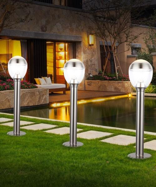 Globo callisto 34251 lampada per esterno da terra lampioncino a led acciaio h 60cm la luceria - Lampade per esterno a led ...