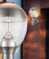GLOBO Callisto 34250S Lampada per Esterno da Parete Applique a LED Acciaio con Sensore