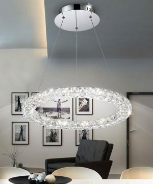GLOBO Marilyn 67037-24 Lampadario a LED Moderno con Cristalli K9 24w