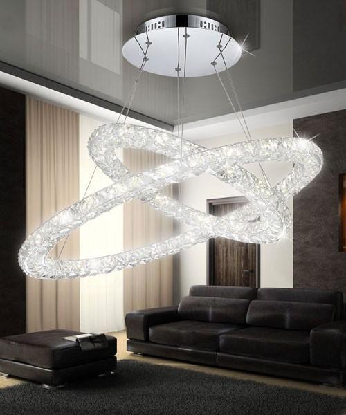 Lampadario Moderno In Cristallo.Globo Marilyn 67038 64 Lampadario A Led Moderno Con Cristalli K9 64w