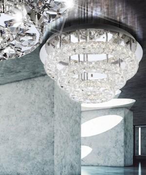 GLOBO Marilyn 67047-44R Plafoniera a LED Moderna con Cristalli K9 44w