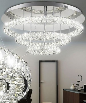 GLOBO Marilyn 67037-72 Plafoniera a LED Moderna con Cristalli K9 72w