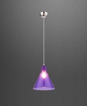GLOBO Conny 15234L Lampadario Moderno 1 Luce Diffusore Acrilico Lilla